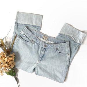 Michael Kors Boyfriend Cropped Cuffed Jeans